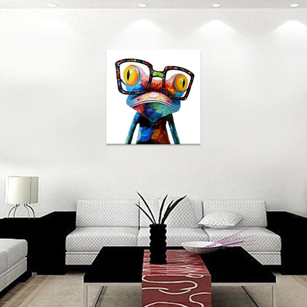 Resumen de impresión lienzo pared colgante Beach Art Frog Poster sin ...