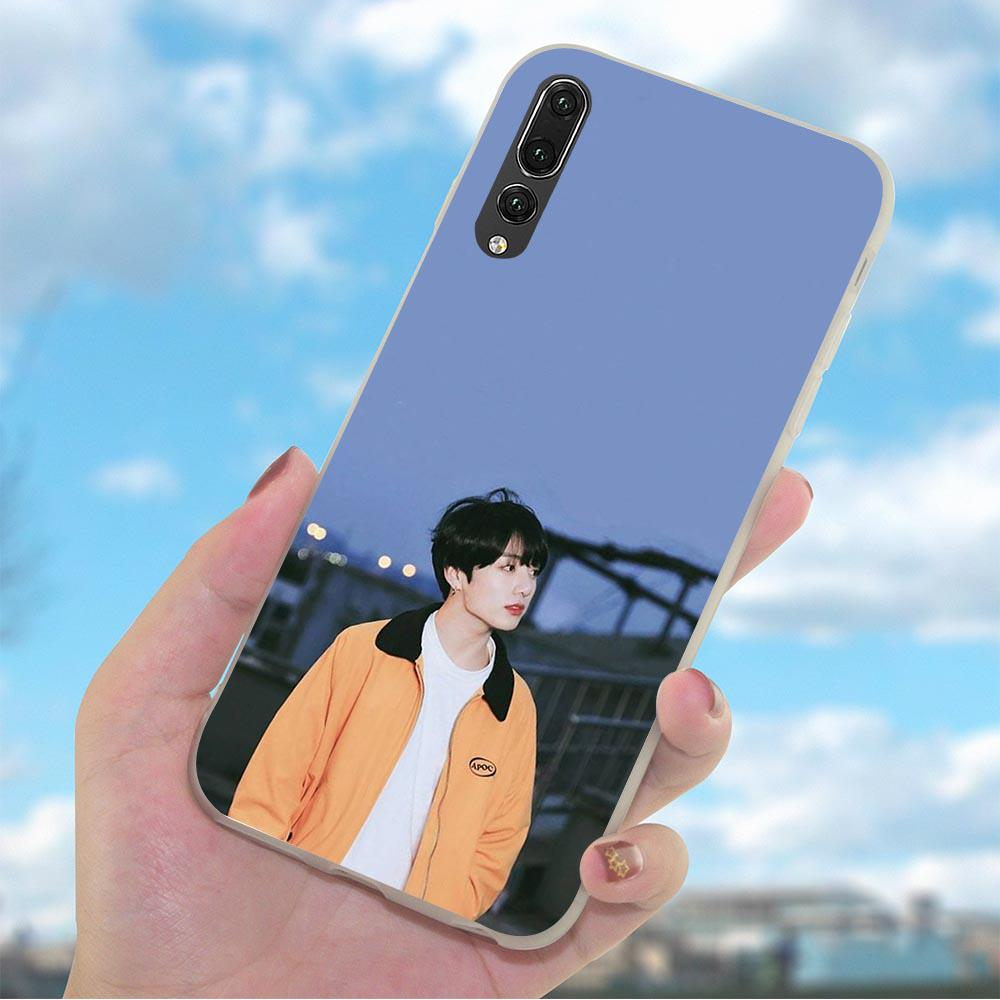 Jungkook Kpop Phone Case for Huawei Honor 9 Cover 9X V30 Pro 7A Y6 Mate 20 30 Lite Silicon