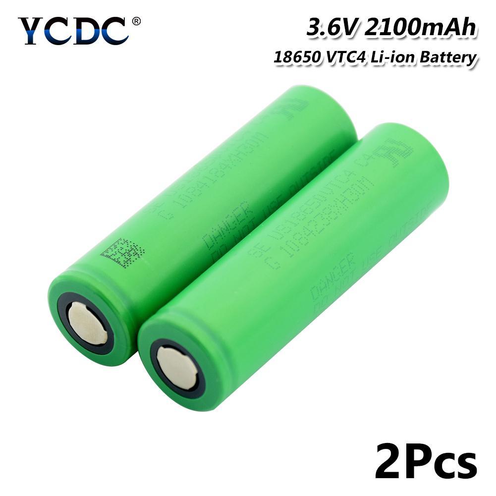 Original 4-Piece Lithium-ion Battery//Rechargeable VTC4 30A 3.7 v