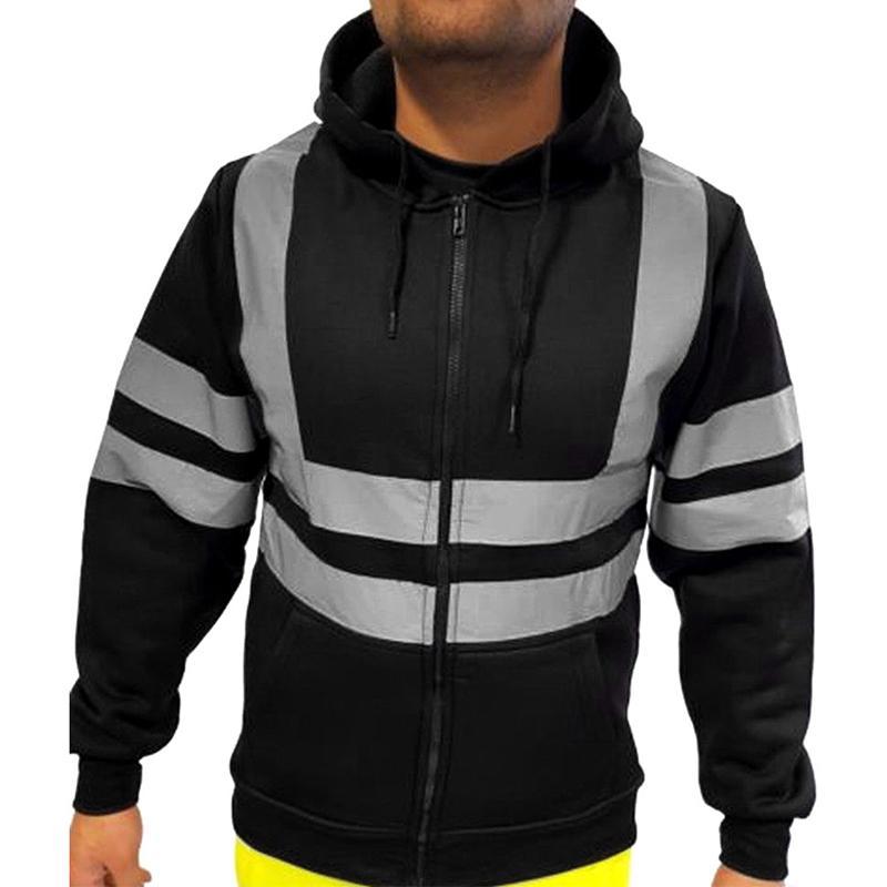 Hi Vis Viz High Visibility Long Sleeve Vest Waistcoat Safety Security Work 3XL