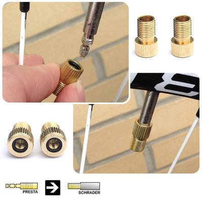 10pcs Car Bicycle Road Tube Cap pump connector Adapter Valve aluminium Alloy