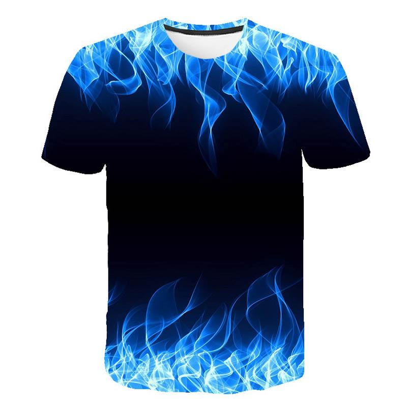 T-Shirts for Men Polo Cool Casual 3D Graphics Tee Tops L