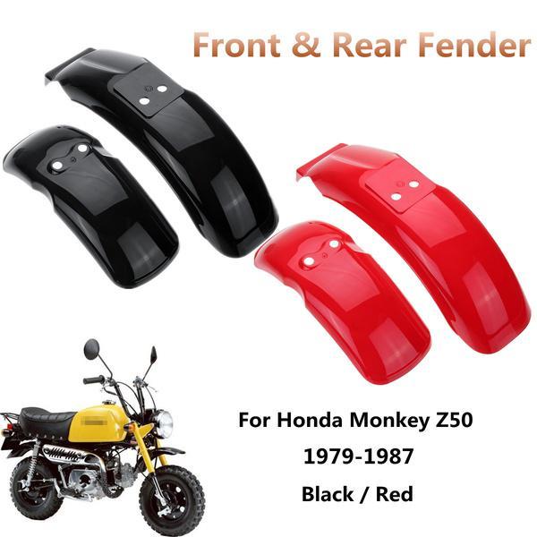"""Honda White Monkey Z50 Z50R 50J 8/""""//10/"""" Plastic Front Wheel Fender Rear Fender"""