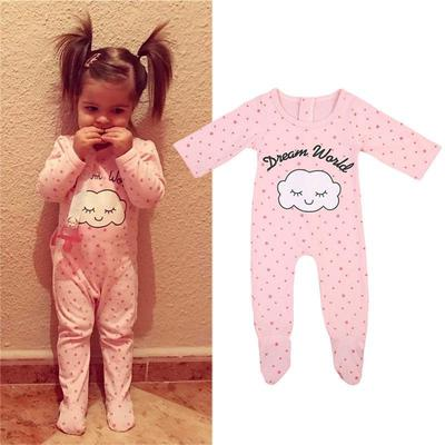 fe85def58 Cute Cloud Newborn Baby Girls Sleepwear Pajamas Pyjamas Set Clothes ...