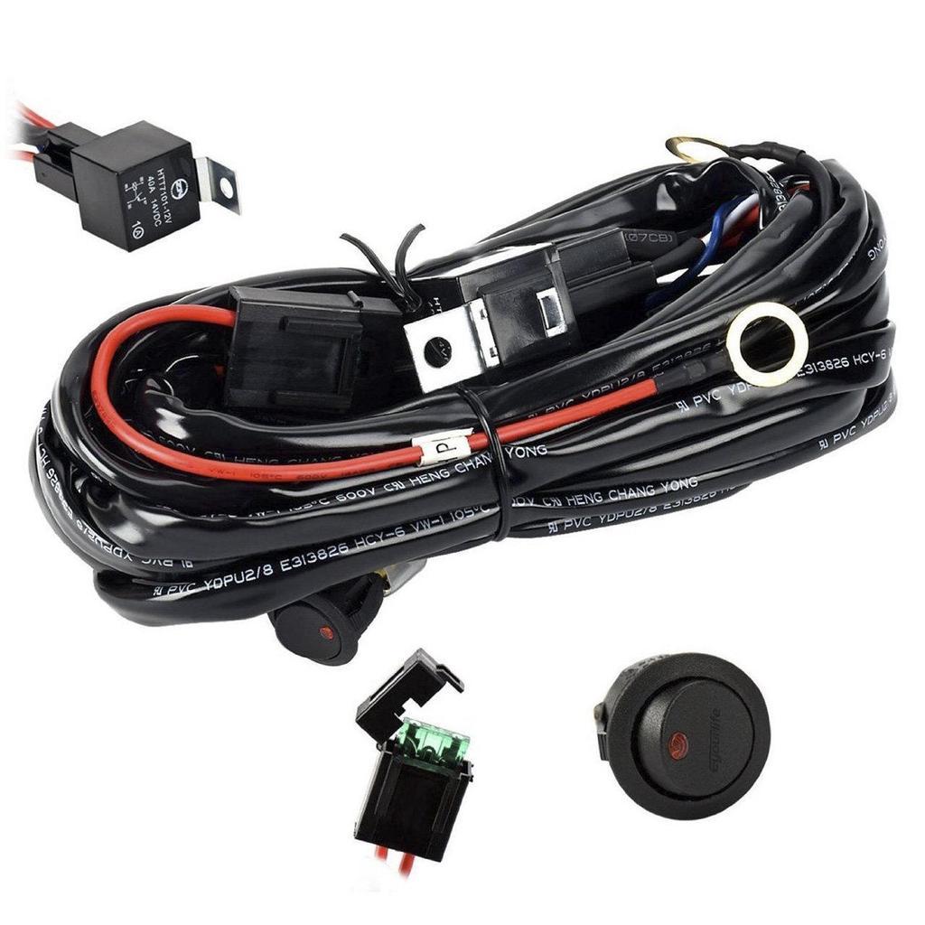 12V 40A Off Road LED Lichtleiste auf Ausschaltrelais Power Schalter ...