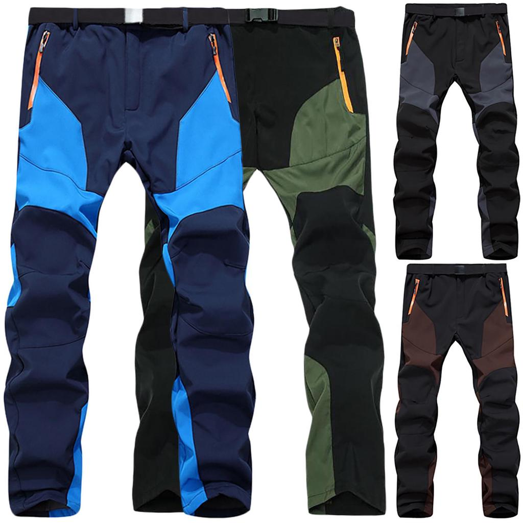 Men Winter Warm Cargo Combat Work Pants Tactical Outdoor Hiking Camping Trousers