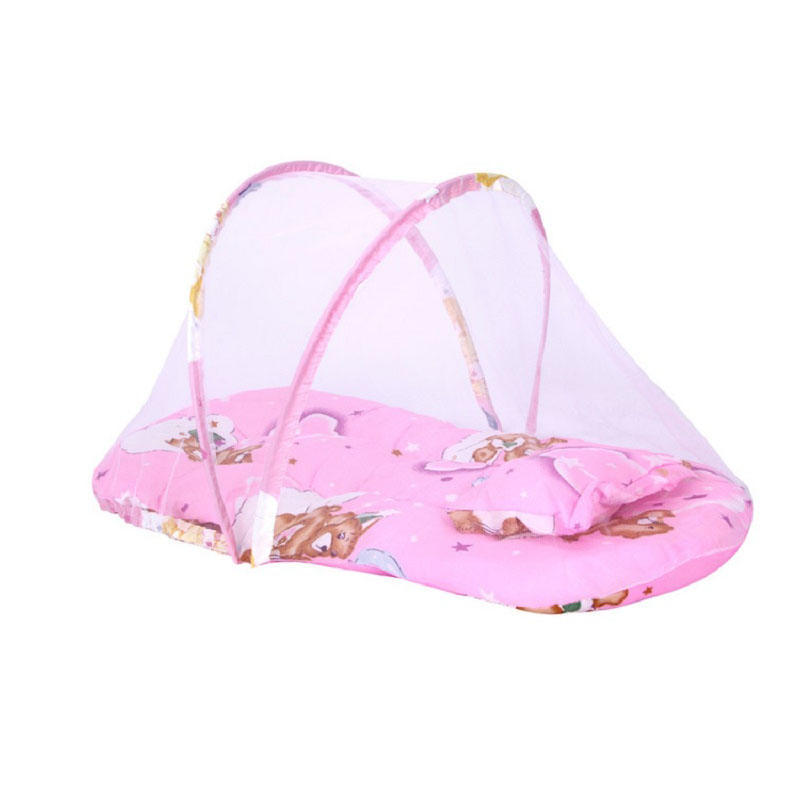 Baby Bedding Nice Baby Bed Nets Folding Mosquito Nets Infants Children Sleeping Pad Pillow Bedspread Mosquito Net Cartoon Cotton Bedspread Crib Netting