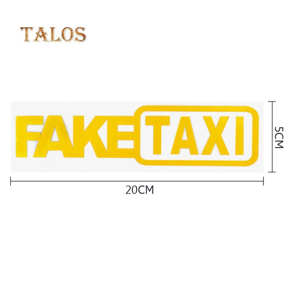 2 piezas amarillo negro TAXI patr/ón reflectante autoadhesivo coche pegatina decoraciones