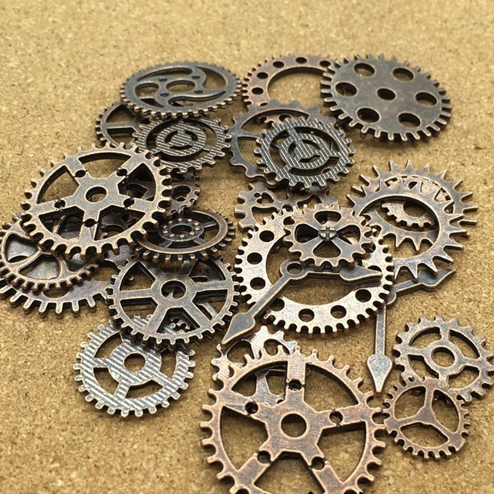 68pcs Steampunk Gears Assorted Vintage Jewelry Scrapbooking Charms Wheel Cog