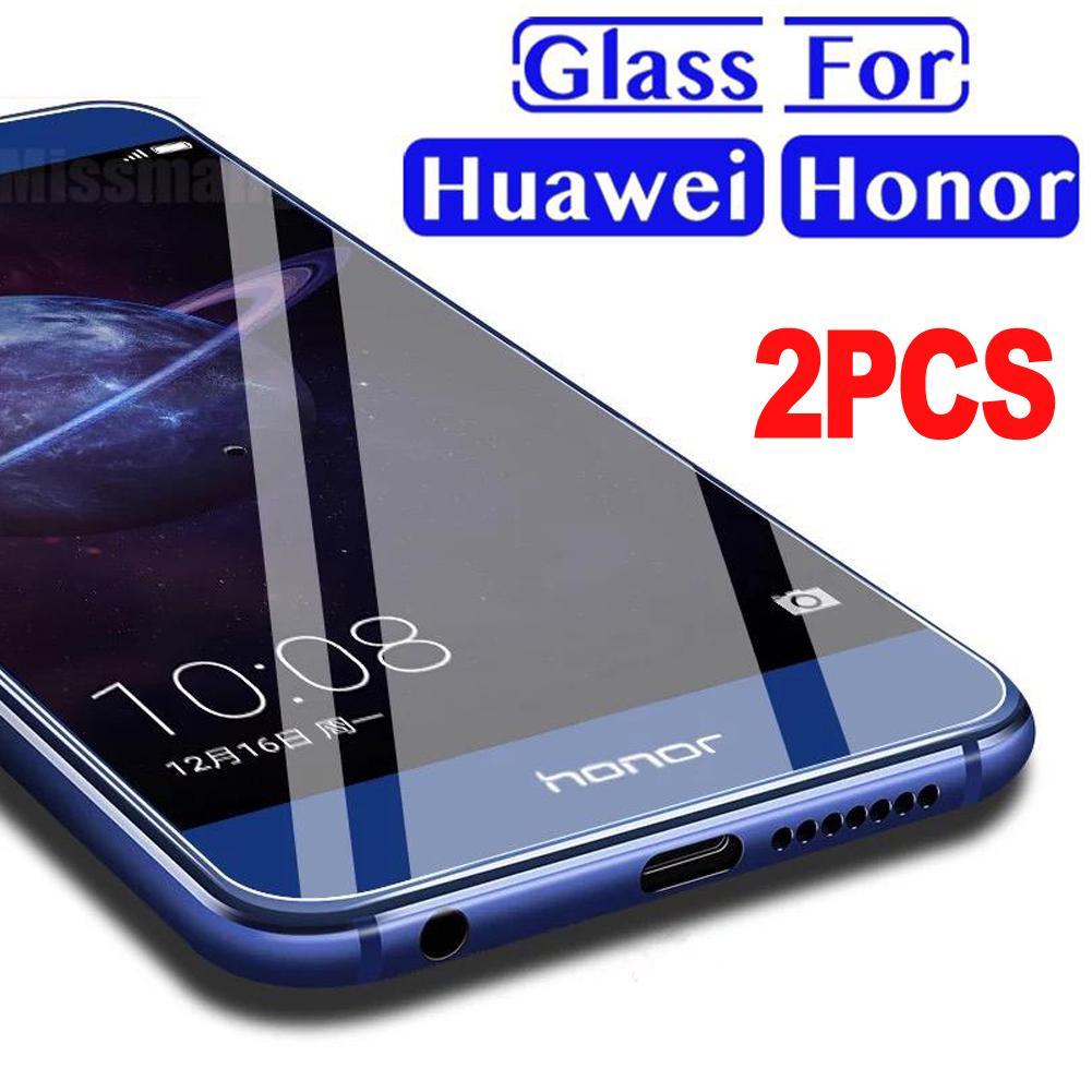 2pcs Screen Protector pellicola frontale vetro temperato per Huawei ...