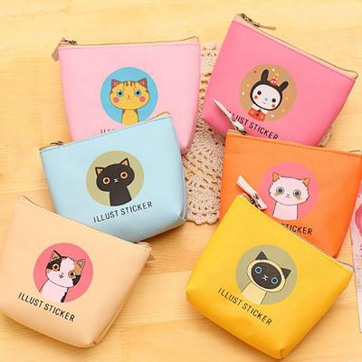 """New Fashion Printed Coin Purse Owl Made of faux leather 1//4/""""sq."""