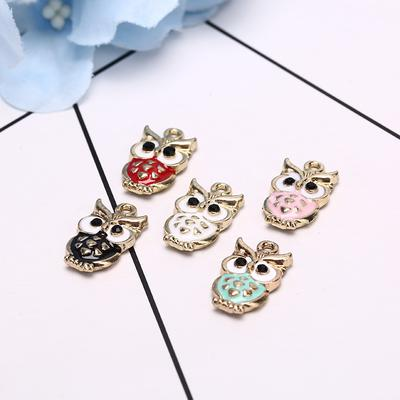 10Pcs//Lot Owl Enamel Alloy Charms Pendant Necklace DIY Craft Jewelry Making GiTS