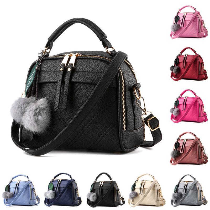 Женщин Messenger через плечо сумка PU кожа лист ранец слинг сумки