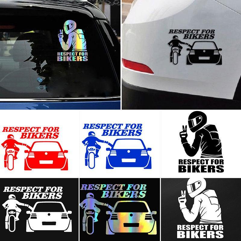 Водонепроницаемый автомобиль окно наклейка 3D Уважение для байкеров Мотоцикл автомобиль Винил наклейка Наклейка Декаль – купить по низким ценам в интернет-магазине Joom