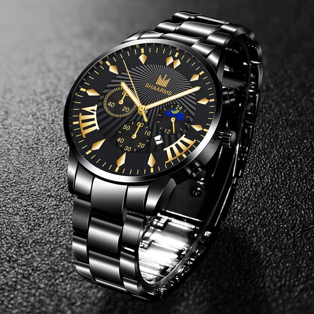 Роскошные кварцевые мужские часы в корпусе из нержавеющей стали – купить по низким ценам в интернет-магазине Joom