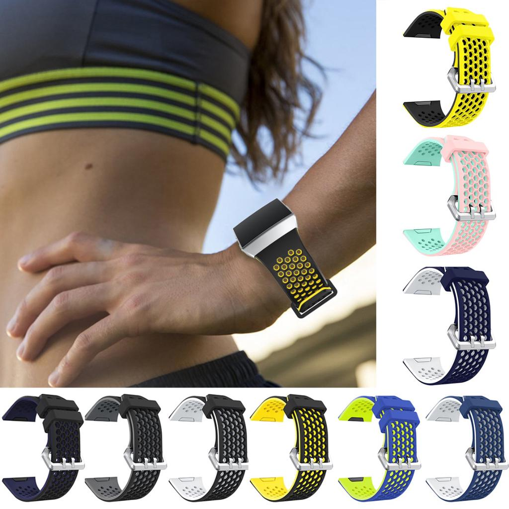 Dagu For Fitbit Ionic Dual Color Strap Silicone Sports Fitness Replacement Wrist Band Buy At A Low Prices On Joom E Commerce Platform