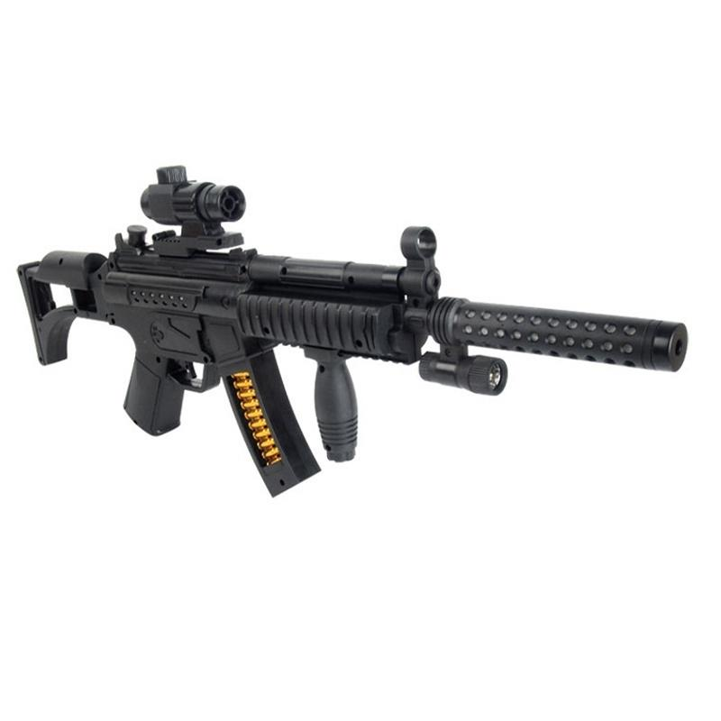 Guns Model Sound Flash Submachine Gun Toy Acoustooptical Toy Projection