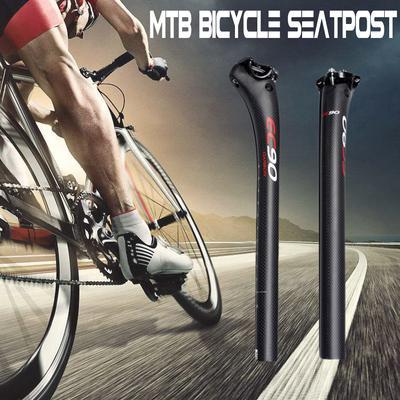 Carbon Fiber Bicycle Seatpost MTB Mountain Road Bike Seat Tube 27.2//30.8//31.6mm