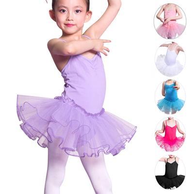108e16cc04f5 Kids Girls  Camisole Leotard Ballet Dancing TUTU Skirt Fancy Fairy ...
