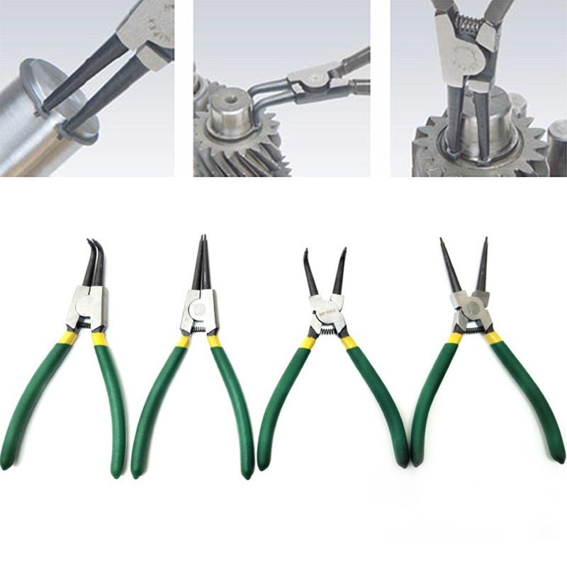 4Pcs 1.7mm Snap Ring Pliers Set Car Circlip Retaining Clip Installation Tools