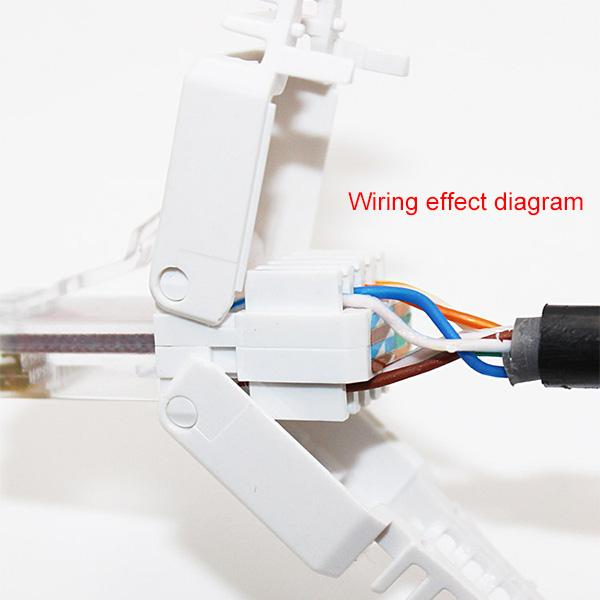 Tool Free Crimping Rj 45 Connector, Wiring Diagram For Cat5e Rj45 Connectors