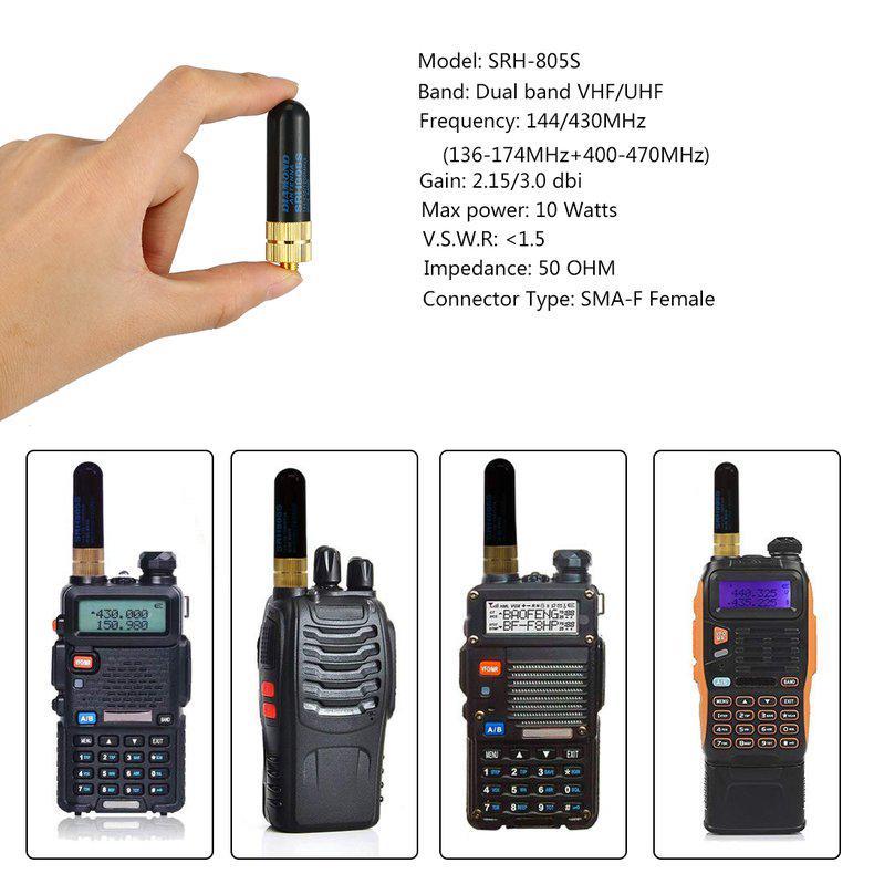 1pc Mini SF20 SMA Male Dual Band UHF//VHF Radio Walkie Talkie Soft Antenna