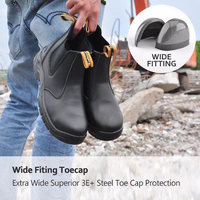 0c99dece8d6 Boots safetoe safety shoes brand men work steel toe cap leather fashion