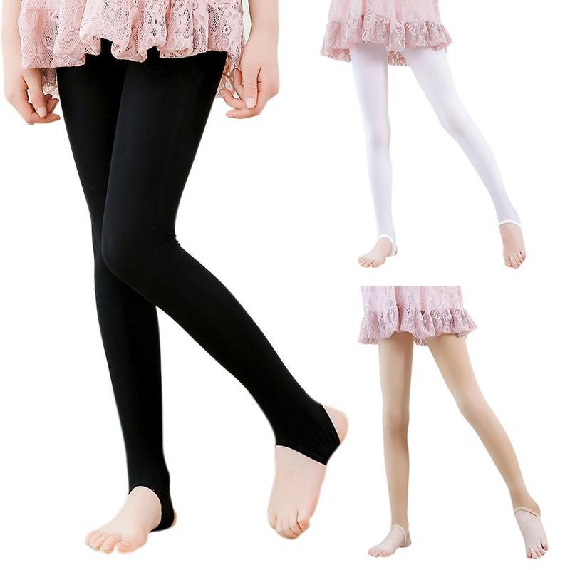 L PATTERN Girls Fleece Lined Leggings Winter Warm Velvet Stretch Kids Pants Tights for 3-11