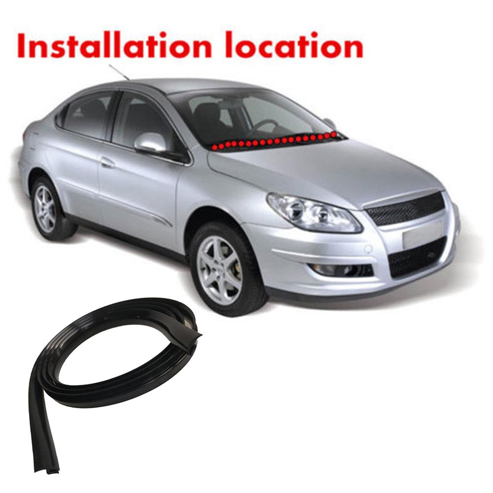 1.7M Universal Ageing Rubber Sealed Strip For Car Front Windshield Plastic Panel