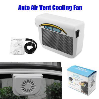 MagiDeal High Quality Car Solar Dual Fan Front//Rear Window Air Vent Cooler black