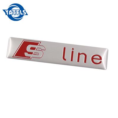 AUDI SLine S Line Red Boot Badge Tailgate Wing Fender A3 A4 A5 A6 A7 Q3 Q7 New