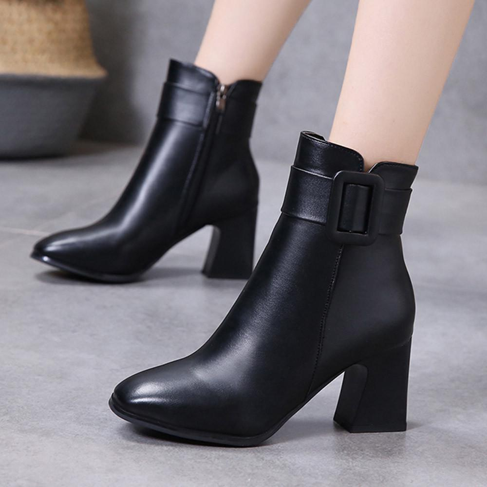 Details about  /Autumn Women/'s Ladies Pointed Toe Ankle Boots Elegant High Heels Stiletto Shoes