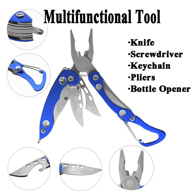 Portable Bottle Opener Screwdriver Keychain multi functional Tool Outdoor Gadget