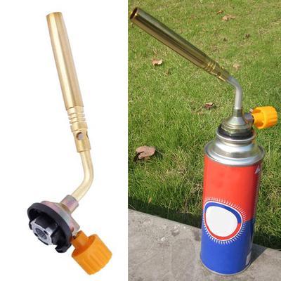 Camping Welding Gas Brass Torch Blowtorch Flame Gun Fit Cheap Butane Can