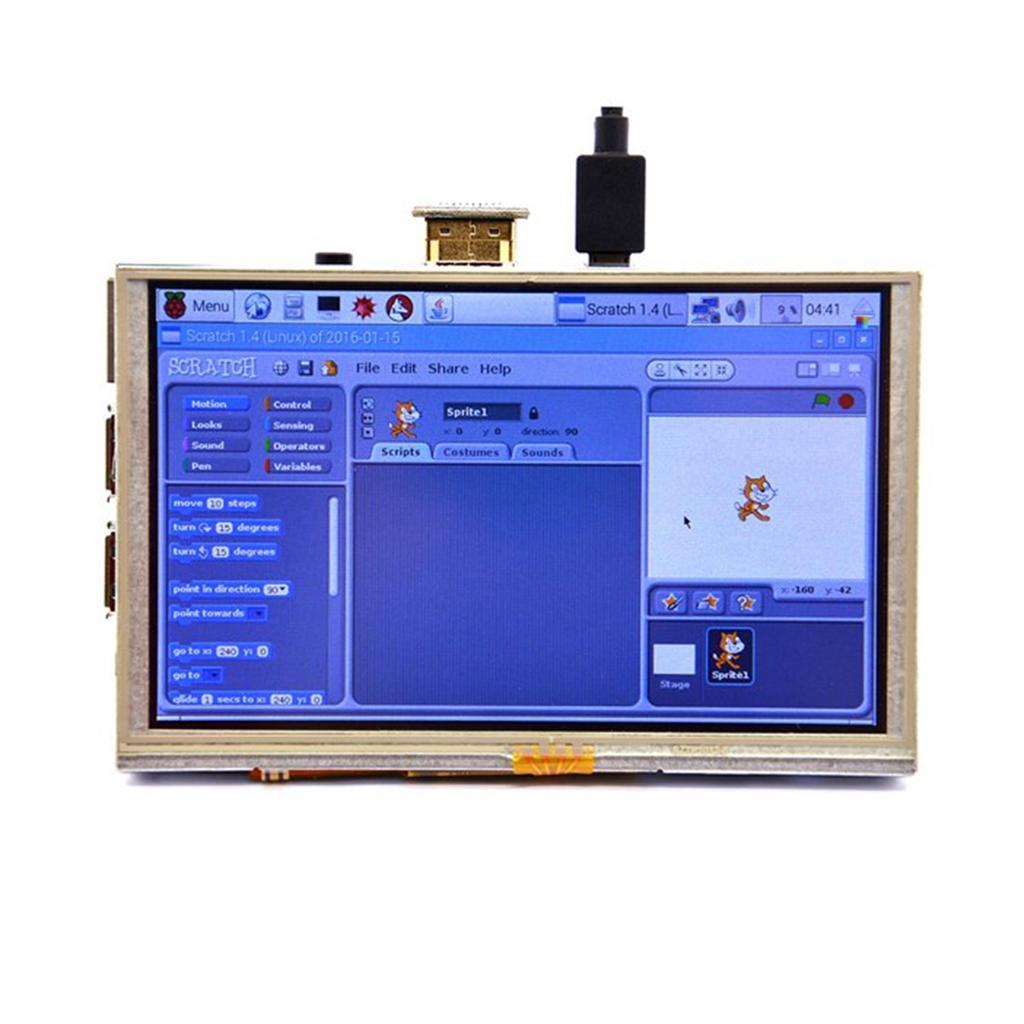 Car monitors 5 inch HDMI TFT LCD screen touch screen for raspberry pi  ubuntu windows 10 iot