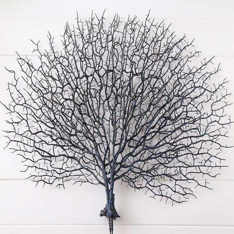 Dark Blue Dongdexiu Home Decoration Peacock Coral Branches Plastic Artificial Plants Dry Tree Simulated Tree Branches Wedding Decoration Color : Dark Blue