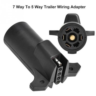 ANTO 7 Pin Round to 7 RV Blade Adapter Trailer Adapter Trailer Light Plug Connector for RV Boat with Mounting Bracket Holder