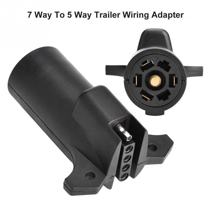 12V 7 Way Round RV Style Trailer Light Plug Connector Replacement End Blade Pin