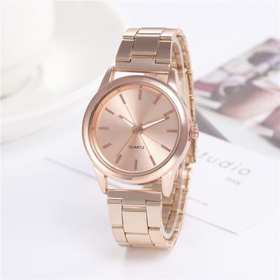 Fashion Women's Luxury Rose Gold Quartz Watch Stainless Steel Dress Bracelet Watch