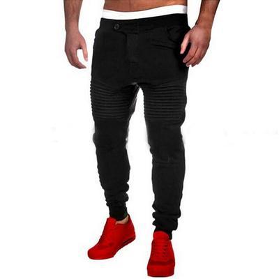 035e2215760 Мужчин Фитнес хип-хоп причинно спортивные штаны брюки обучение тощий бегунов