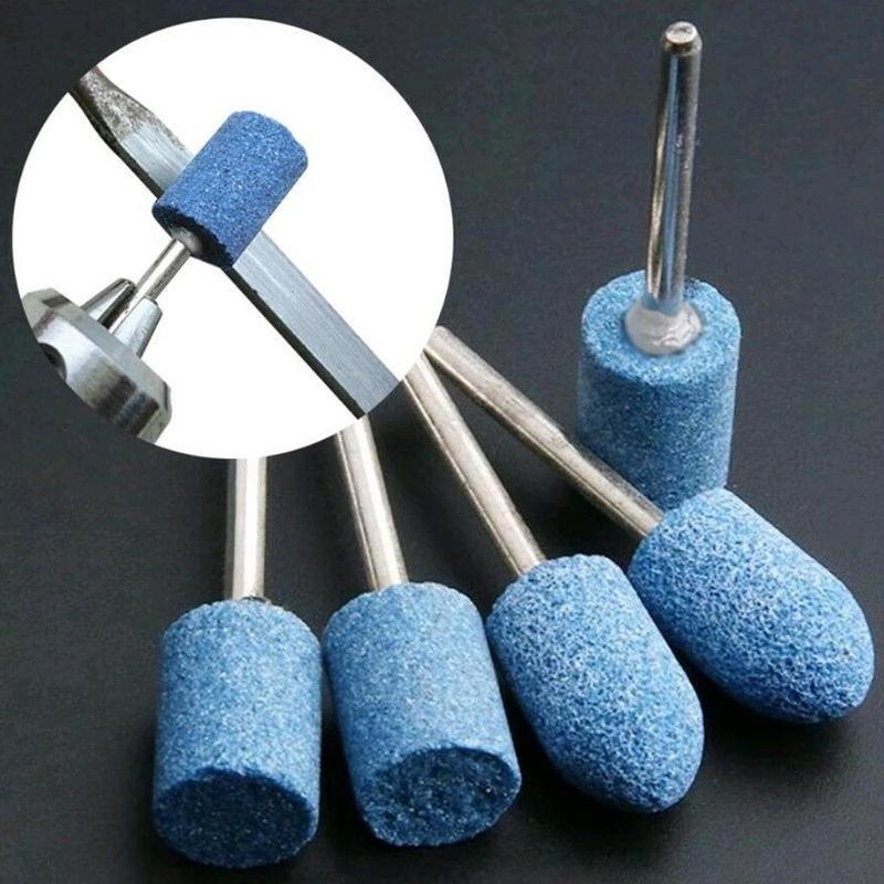 10pcs Ceramic Stone Rotary Burr Die Grinder 1//8  2.9mm Shank Grinding Polishing