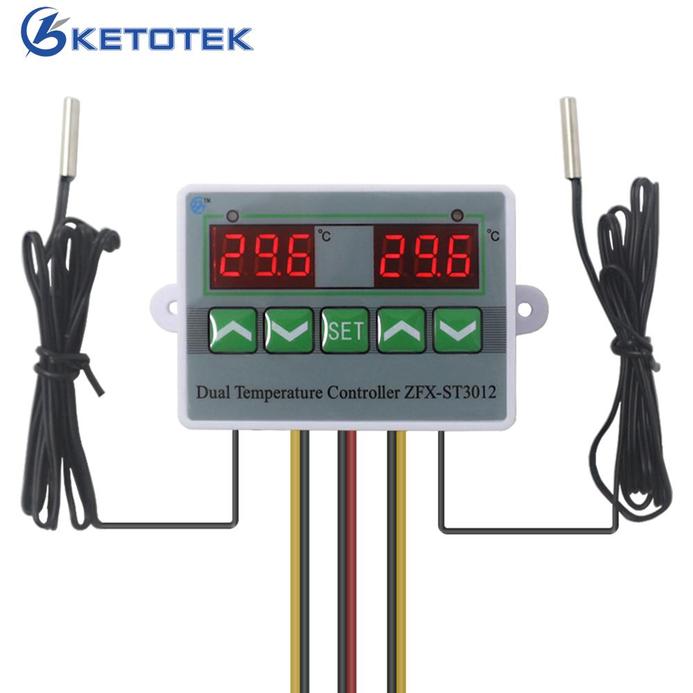 AC//DC 110V Dual Digital PID Temperature Controller Thermostat