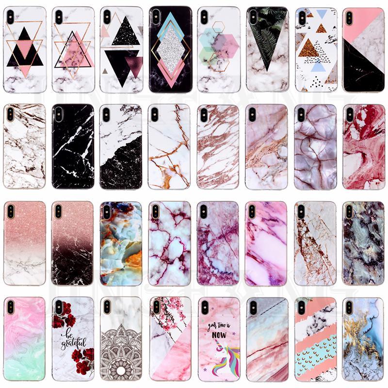 Телефон Чехол для iphone 5 6 6s 7 7plus xs Мода Мраморный дизайн Тонкий Мягкий TPU Резиновый Силиконовый Обложка фото