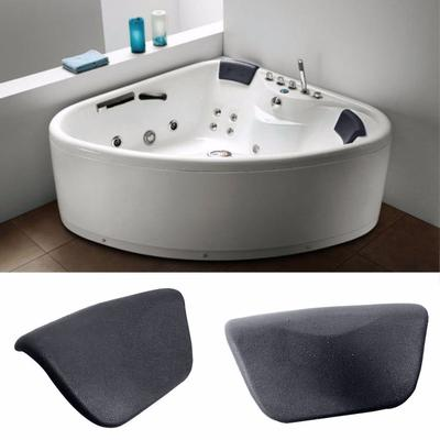 Black Spa Bath Bathtub Pillow Bathroom Neck Support Suction Cup Hot Tub Back