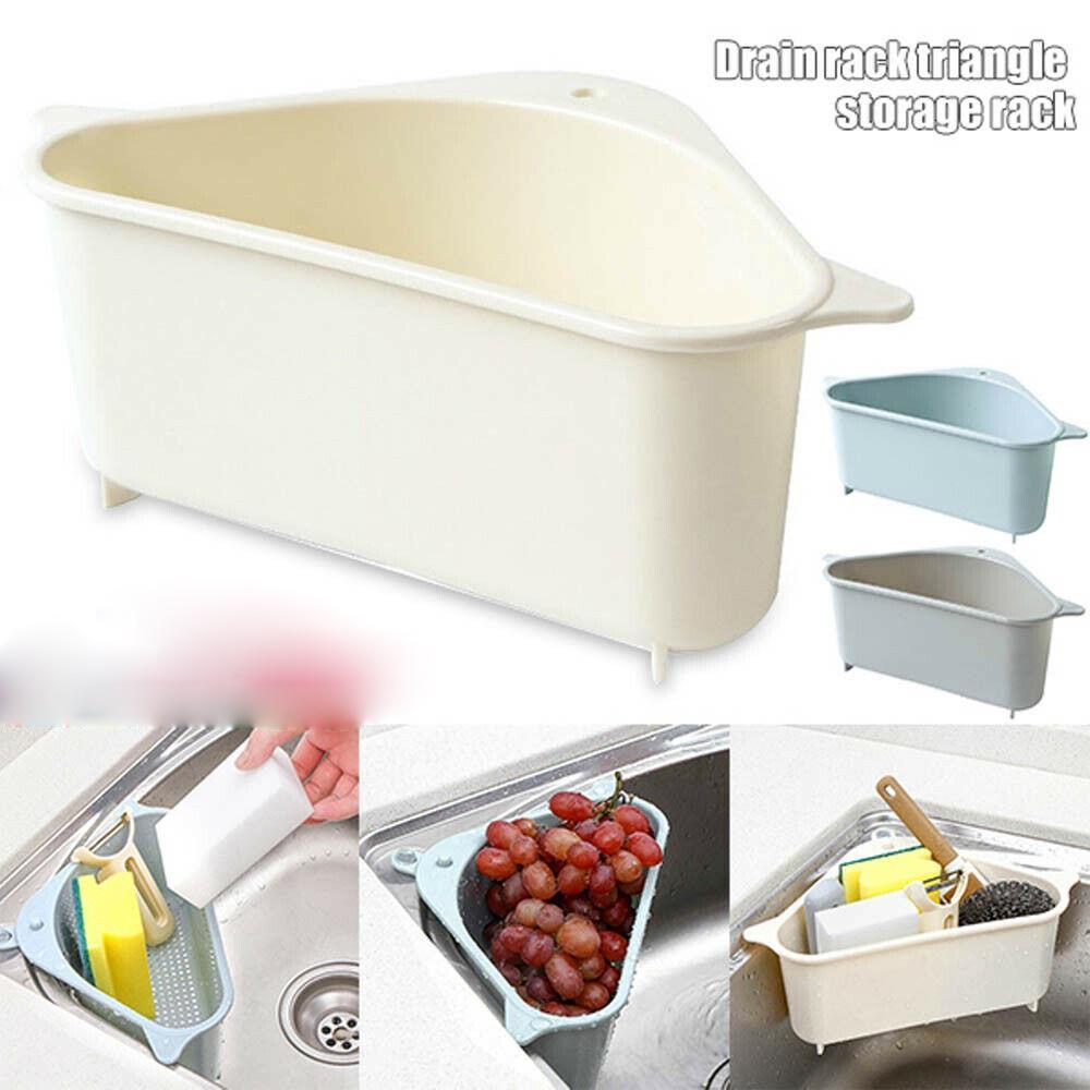 Triangle Storage Holder Multifunctional Drain Shelf Kitchen Sink Rack Basket Hot