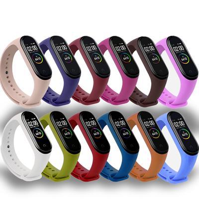 Bracelet for Xiaomi Mi Band 4 3 Sport Strap Watch Silicone Wrist Strap Bracelet Accessories