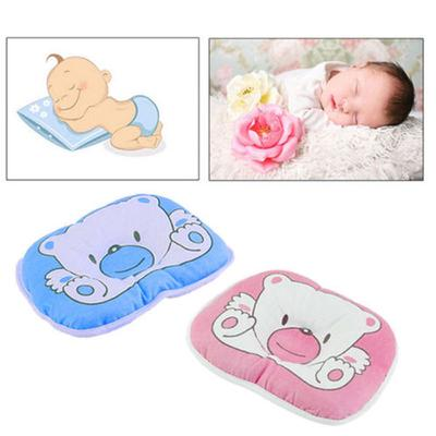 Baby Flat Head Pillow Newborn Bed Cot Infant Toddler Sleeping Crib Cushion