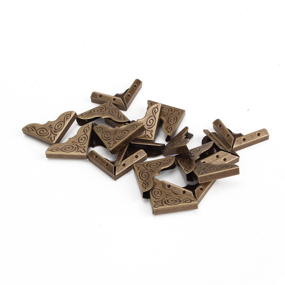 20pcs Elegant Bronze Album Edge Cover Corner Protector 25x4mm Ntebook Gards