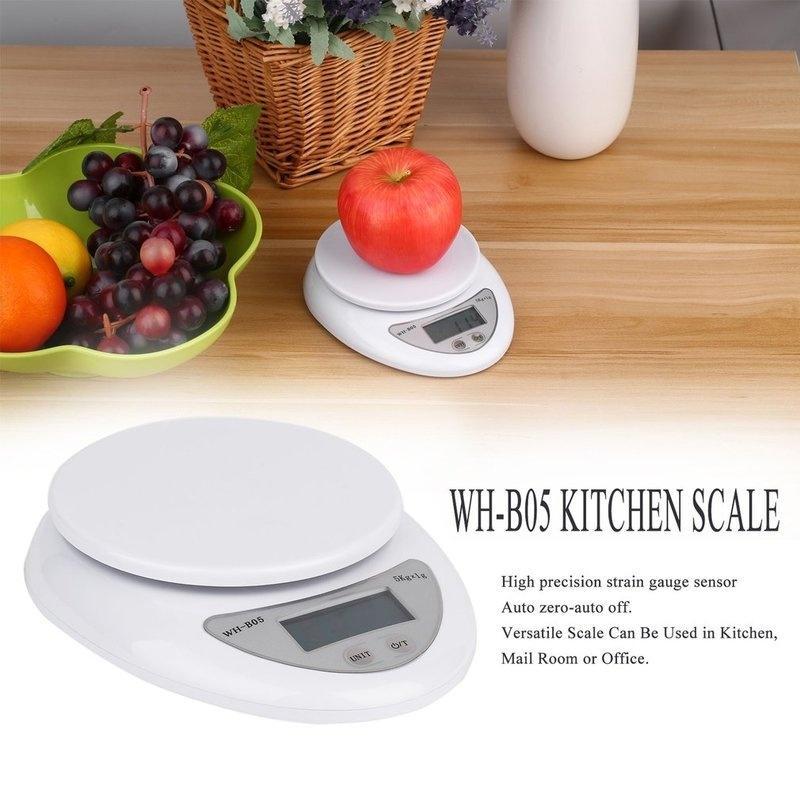 Цифровая шкала 5 кг / 1g почтовые кухня приготовления пищи диета граммов OZ LB 5000g LED электронных лабораторных фото