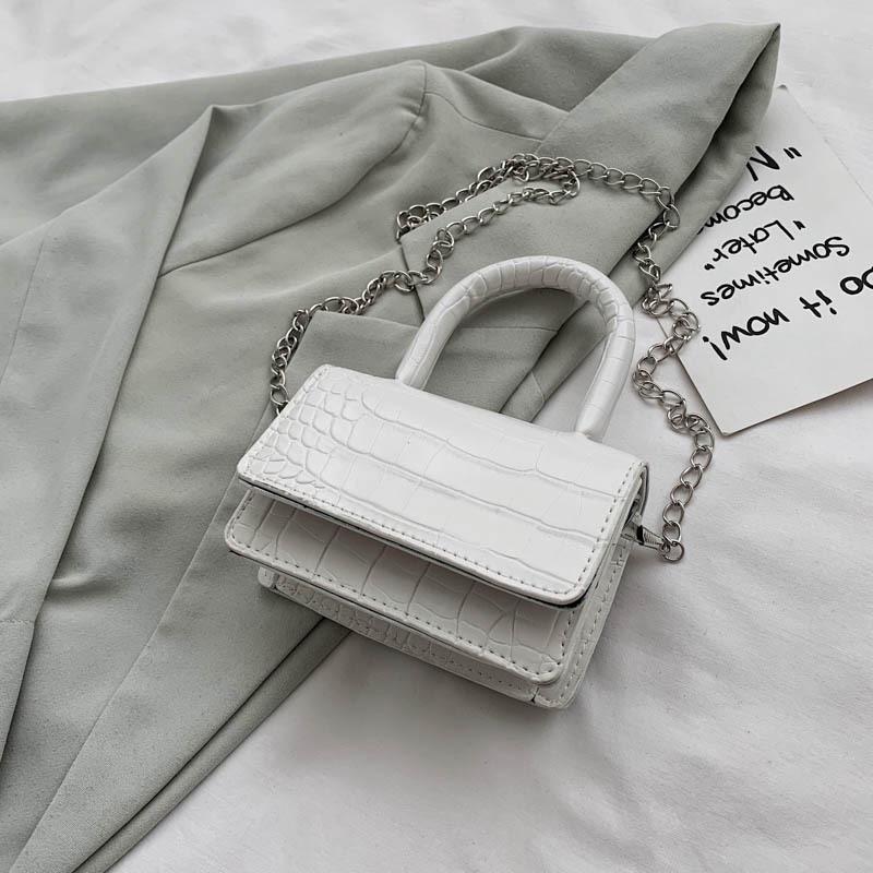 2 Szes Small//Large Faux Leather Single Shoulder Bag Chain Purse Flap Baguette